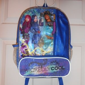 New large Disney Descendants 2 book bag backpack
